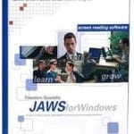 JAWS screen reader software in its box packaging