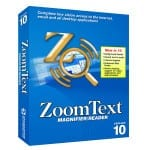 ZoomText Software in its box packaging