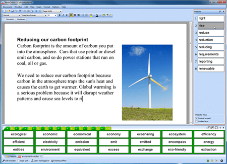Screenshot of Write Online Software